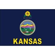 Kansas State Nylon Flag